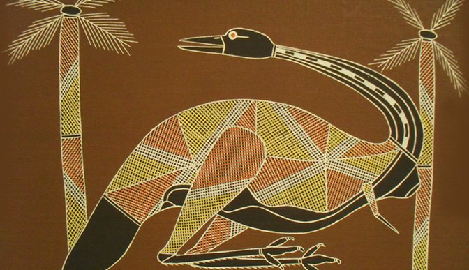 Emu - Aboriginal Art
